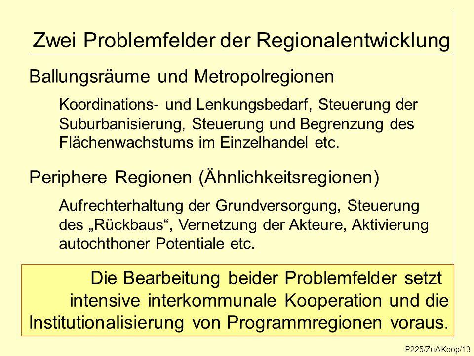 Zwei Problemfelder der Regionalentwicklung