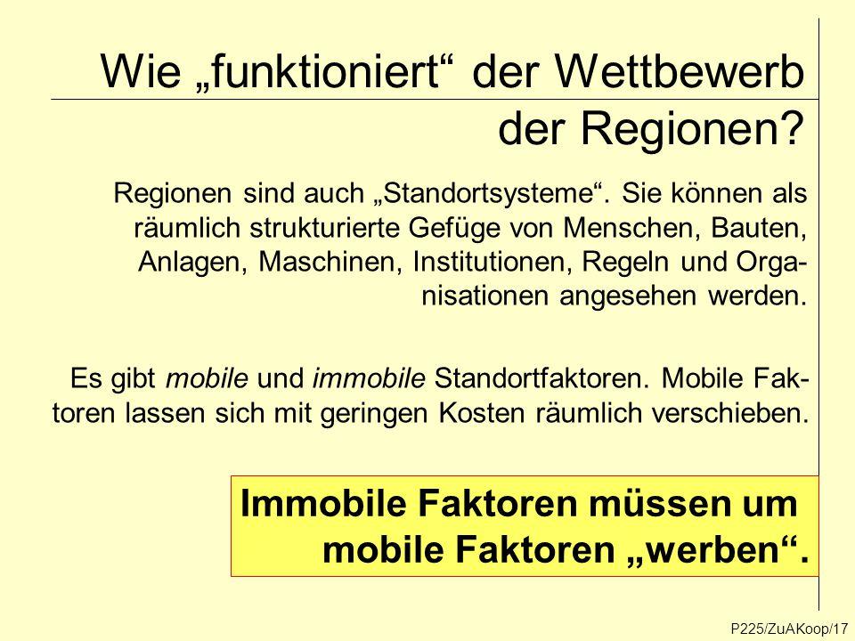 """Wie """"funktioniert der Wettbewerb der Regionen"""
