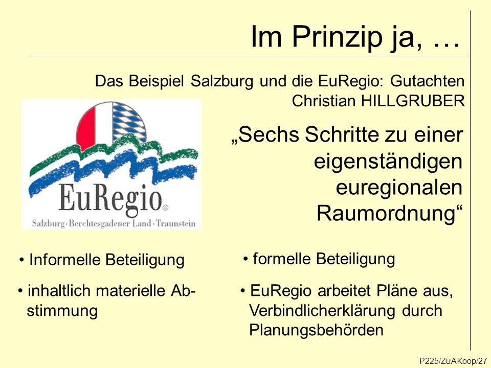 """Im Prinzip ja, … """"Sechs Schritte zu einer eigenständigen euregionalen"""