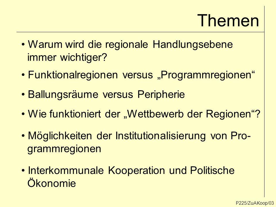 Themen Warum wird die regionale Handlungsebene immer wichtiger