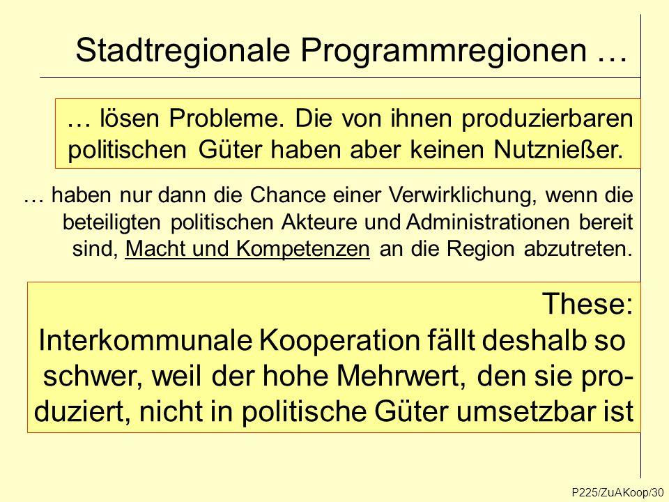 Stadtregionale Programmregionen …