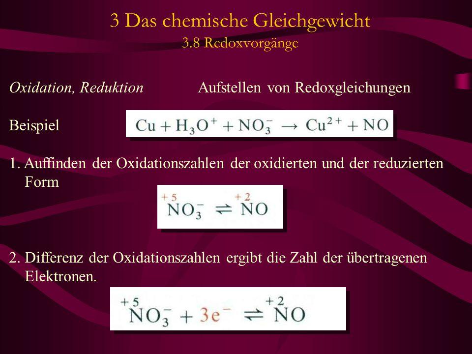 3 Das chemische Gleichgewicht 3.8 Redoxvorgänge