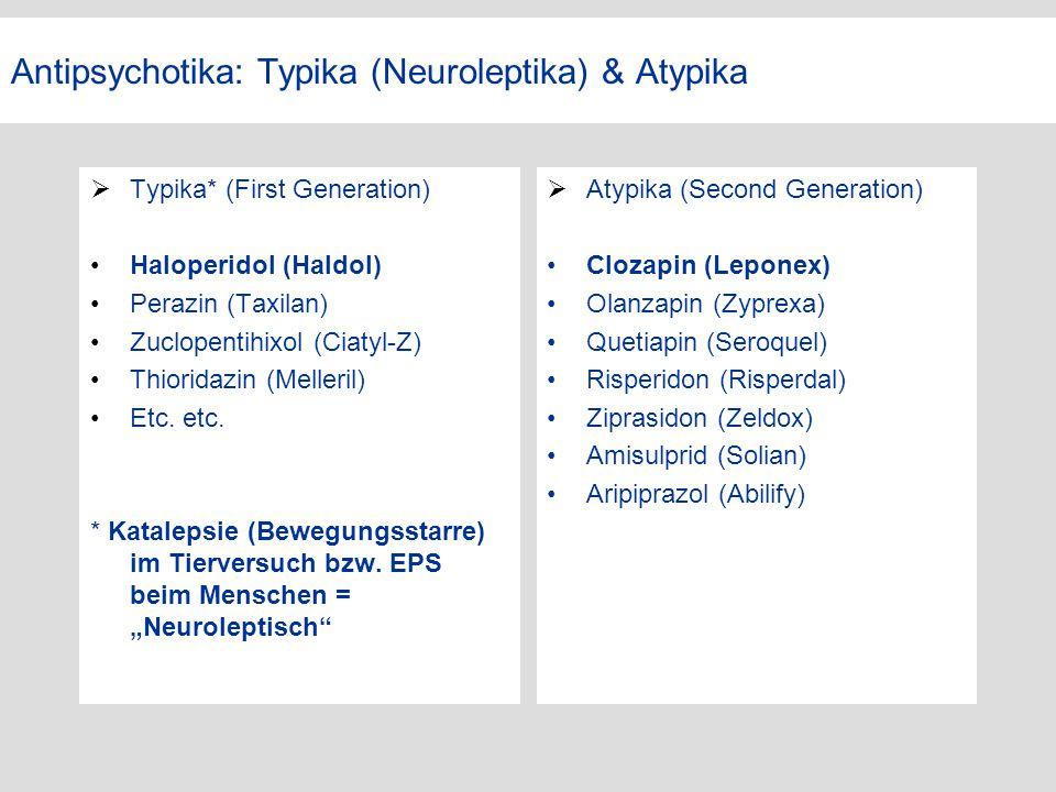 Antipsychotika: Typika (Neuroleptika) & Atypika