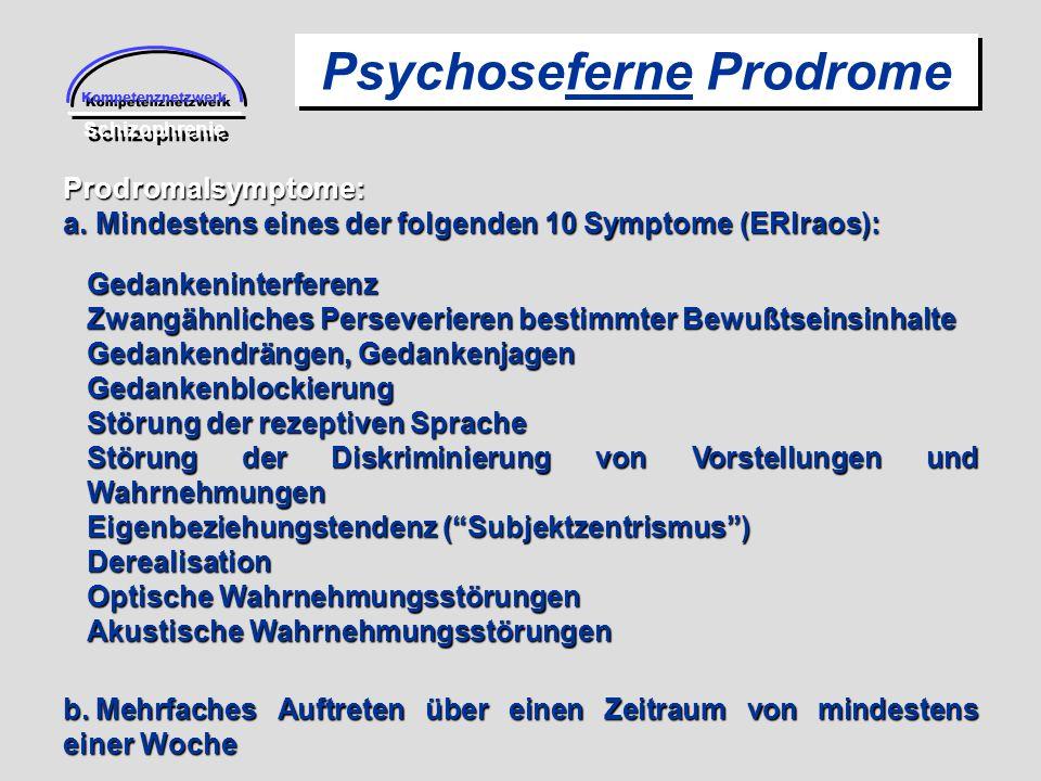 Psychoseferne Prodrome
