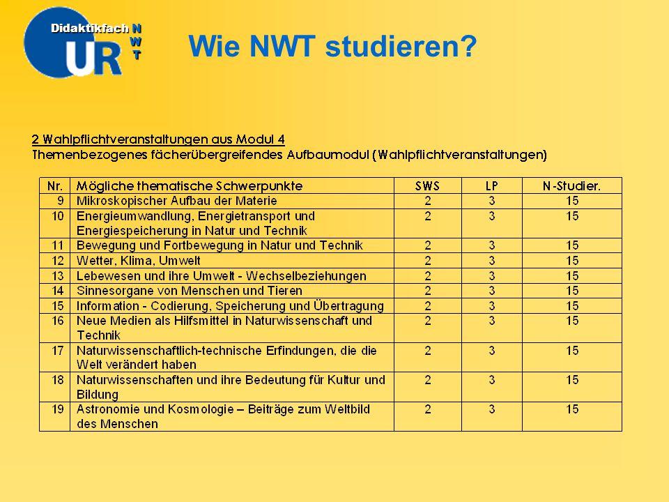 Didaktikfach N W T Wie NWT studieren
