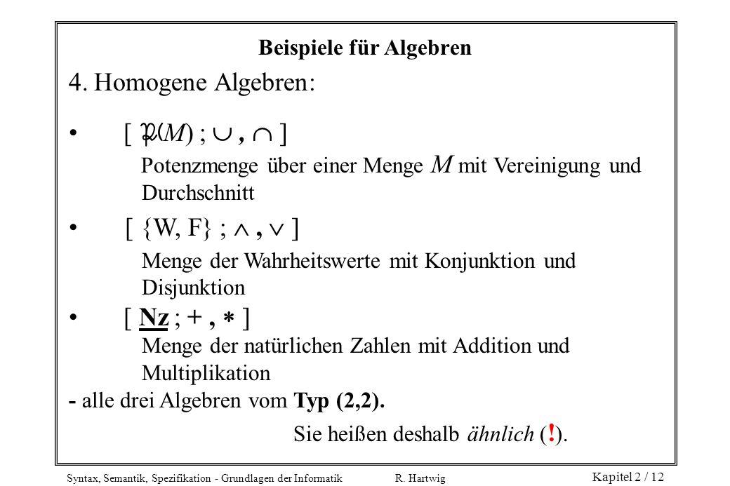 Beispiele für Algebren