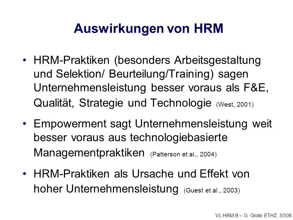Auswirkungen von HRM
