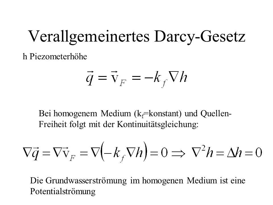 Verallgemeinertes Darcy-Gesetz