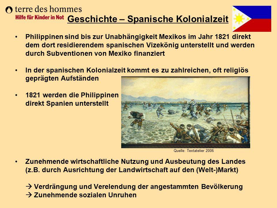 Geschichte – Spanische Kolonialzeit