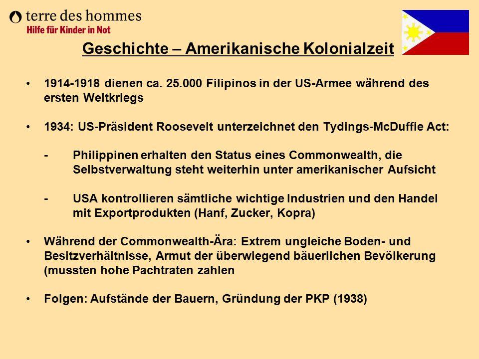 Geschichte – Amerikanische Kolonialzeit