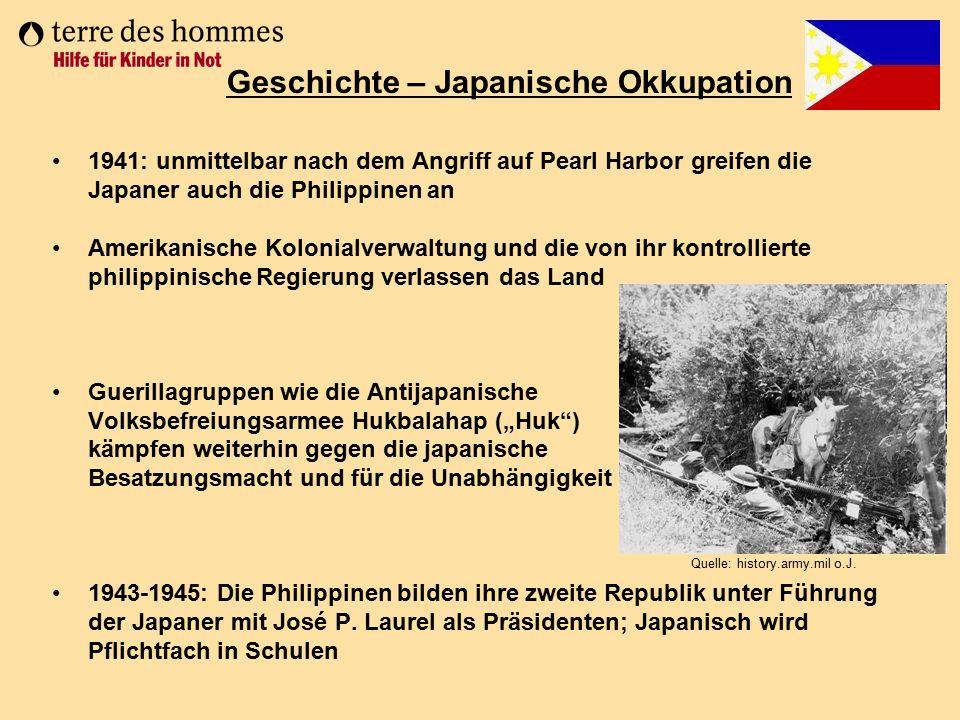 Geschichte – Japanische Okkupation