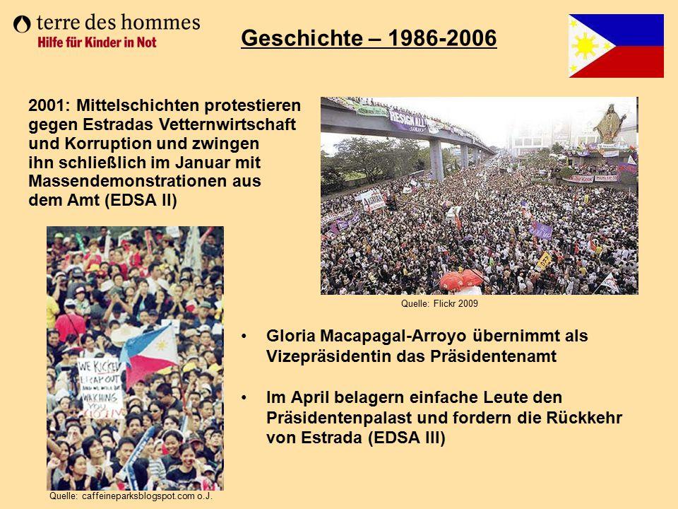 Geschichte – 1986-2006 2001: Mittelschichten protestieren