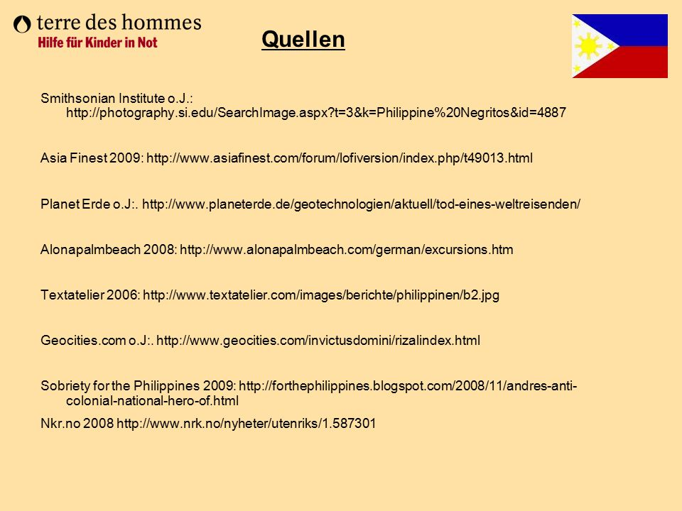 Quellen Smithsonian Institute o.J.: http://photography.si.edu/SearchImage.aspx t=3&k=Philippine%20Negritos&id=4887.