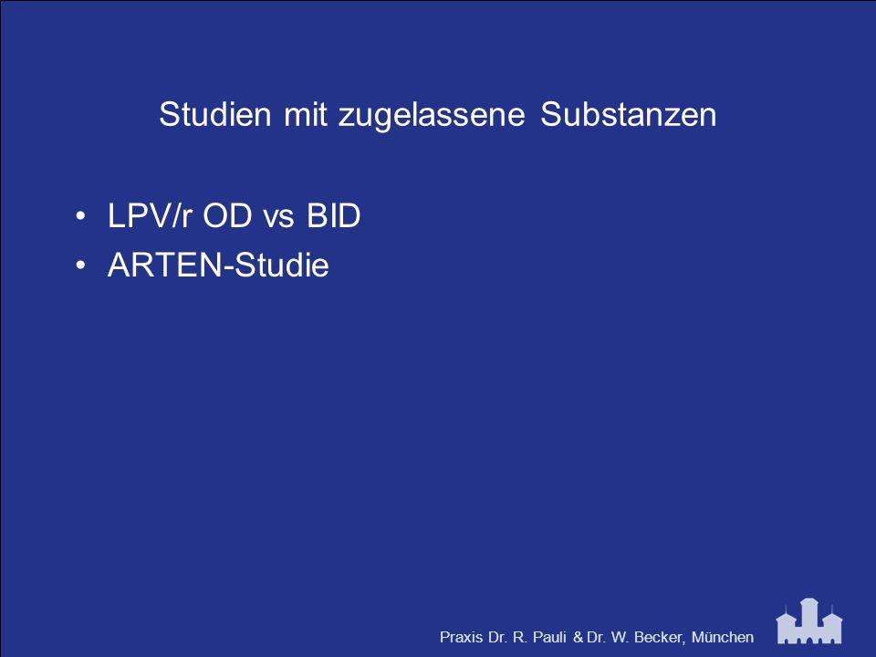Studien mit zugelassene Substanzen