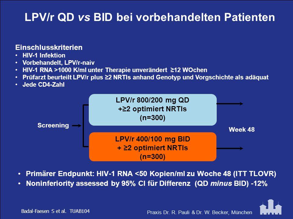 LPV/r QD vs BID bei vorbehandelten Patienten