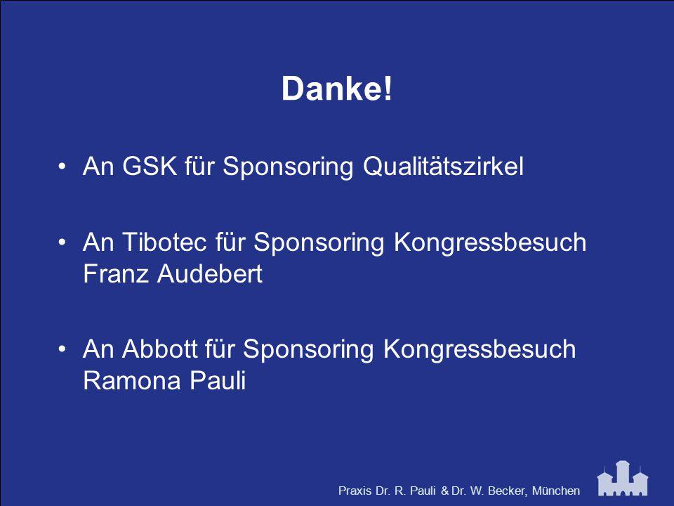 Danke! An GSK für Sponsoring Qualitätszirkel