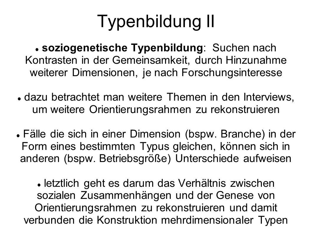 Typenbildung II