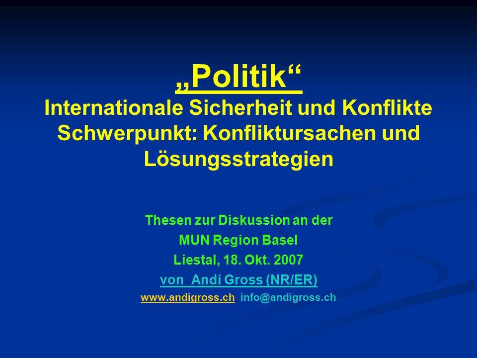 Thesen zur Diskussion an der www.andigross.ch info@andigross.ch