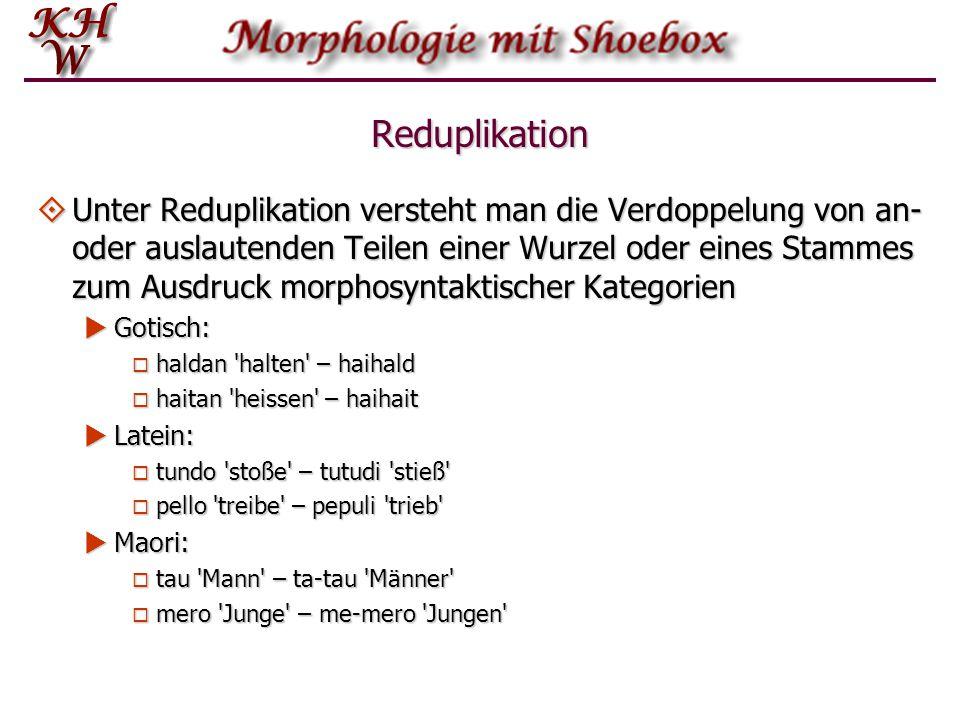 Reduplikation