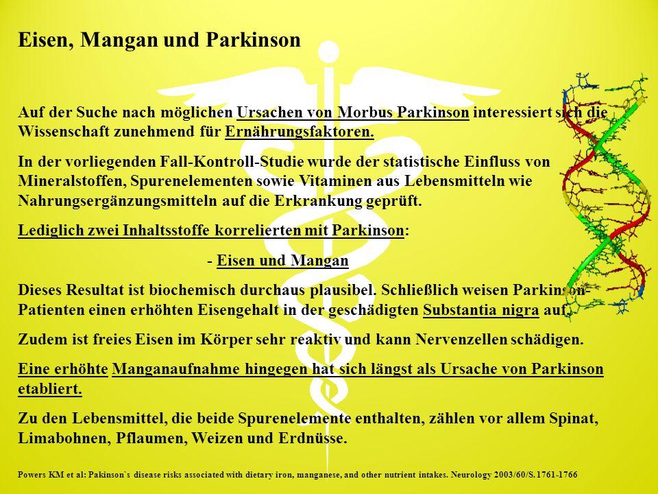 Eisen, Mangan und Parkinson