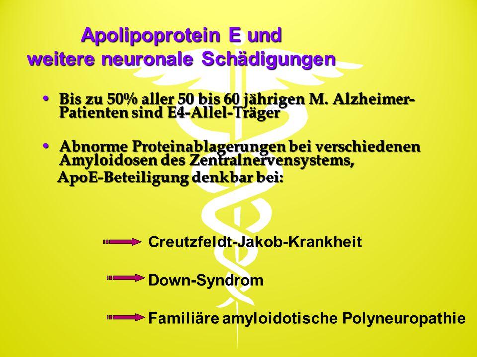 Apolipoprotein E und weitere neuronale Schädigungen
