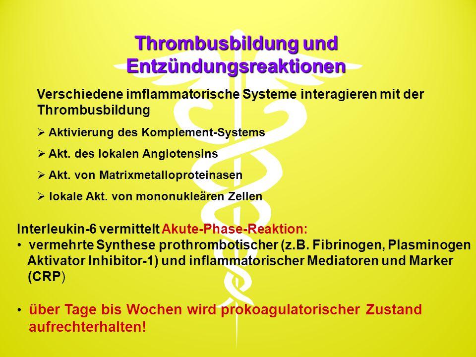 Thrombusbildung und Entzündungsreaktionen