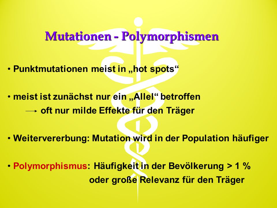 Mutationen - Polymorphismen