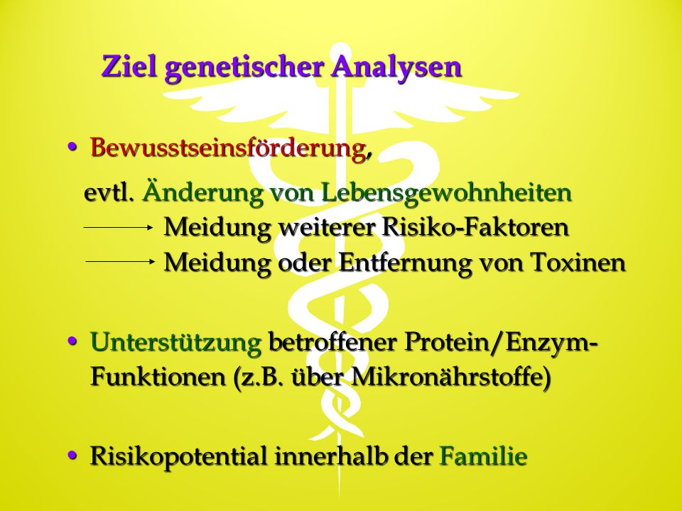Ziel genetischer Analysen