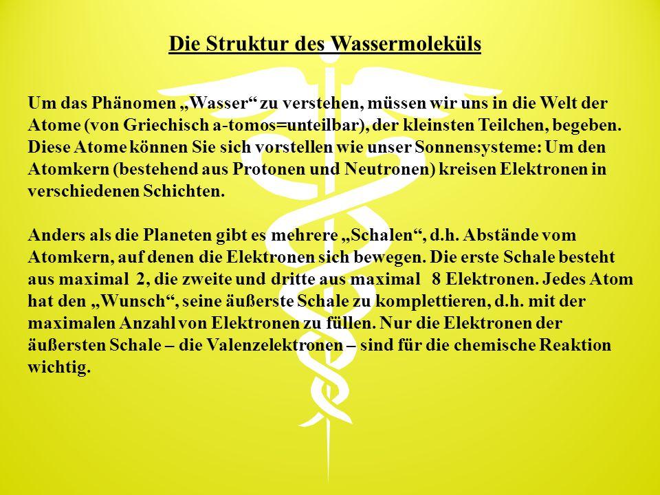Die Struktur des Wassermoleküls