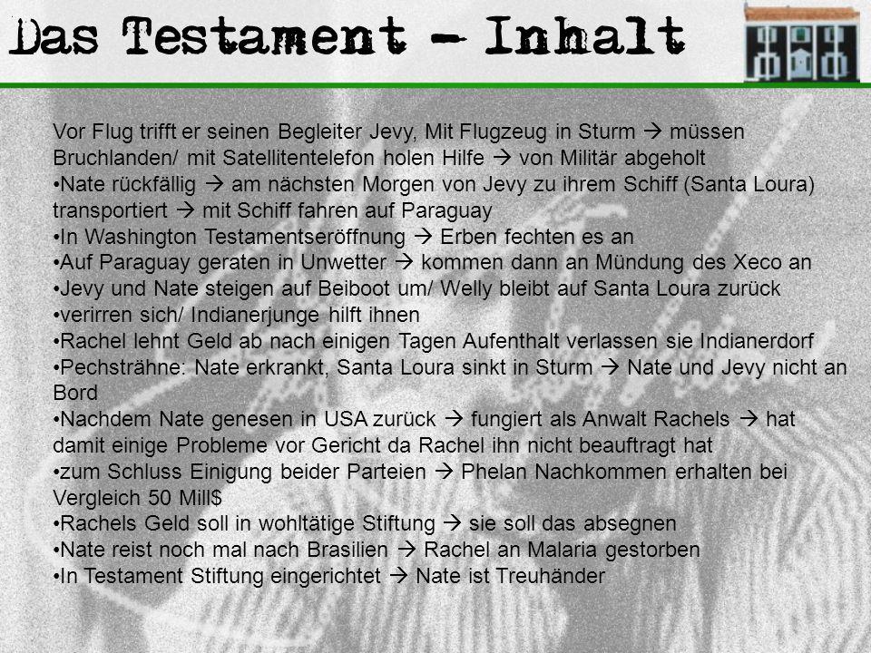 Das Testament - Inhalt