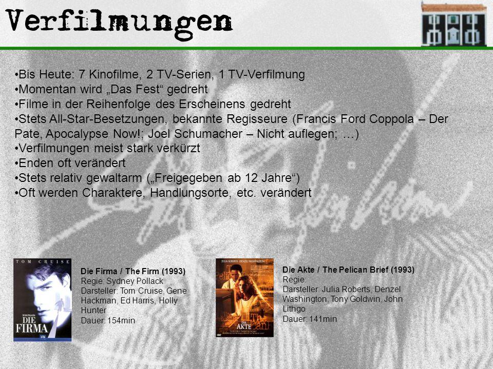 Verfilmungen Bis Heute: 7 Kinofilme, 2 TV-Serien, 1 TV-Verfilmung