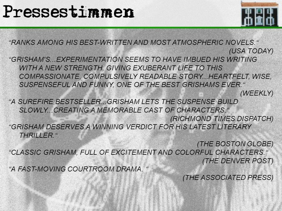 Pressestimmen ''RANKS AMONG HIS BEST-WRITTEN AND MOST ATMOSPHERIC NOVELS. (USA TODAY)