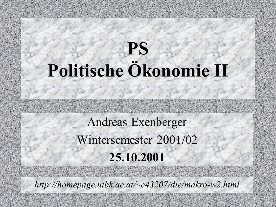 PS Politische Ökonomie II