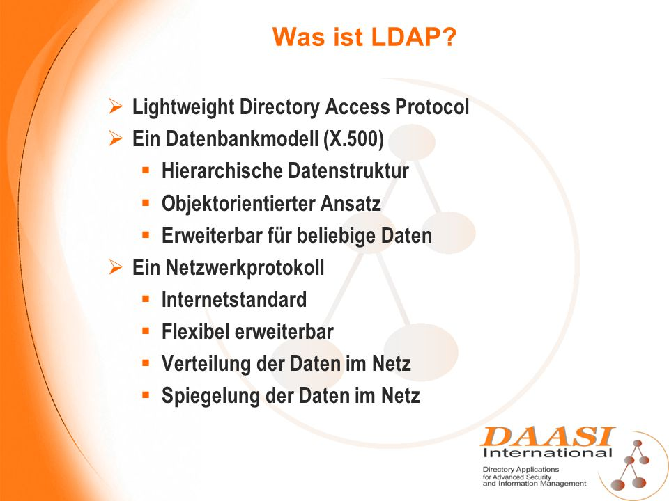 Was ist LDAP Lightweight Directory Access Protocol