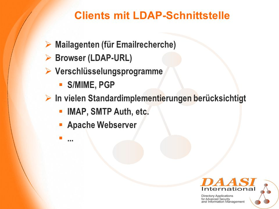 Clients mit LDAP-Schnittstelle