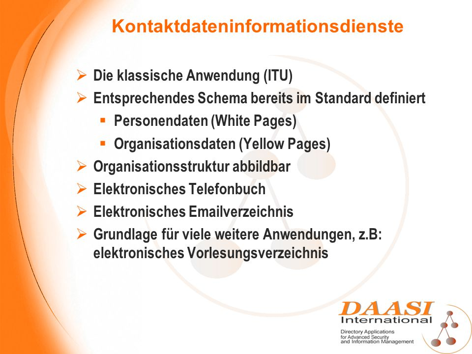 Kontaktdateninformationsdienste