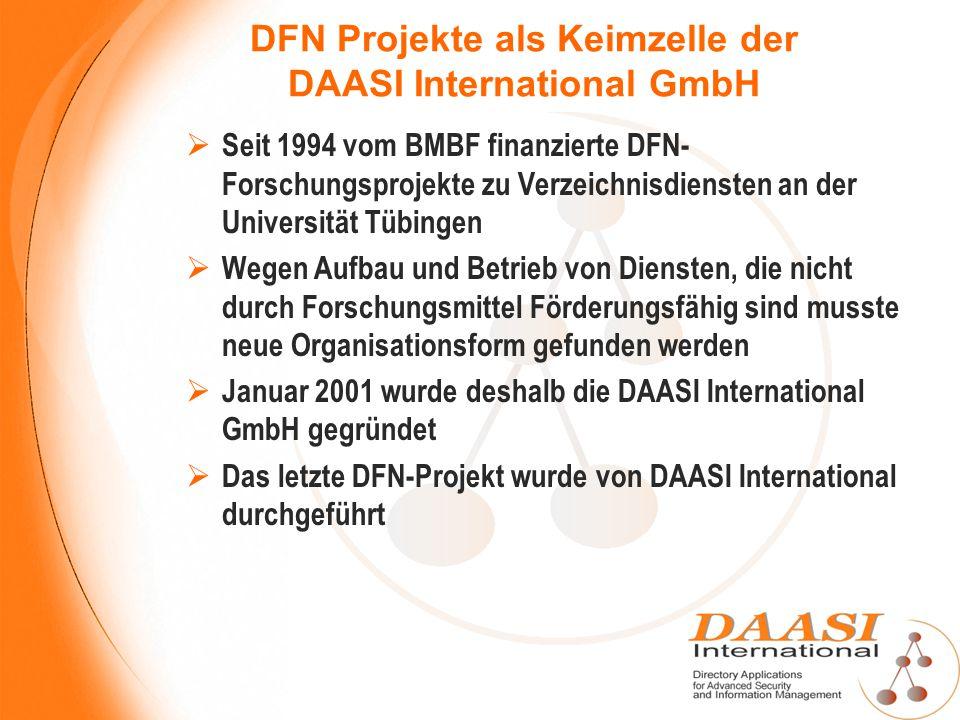 DFN Projekte als Keimzelle der DAASI International GmbH