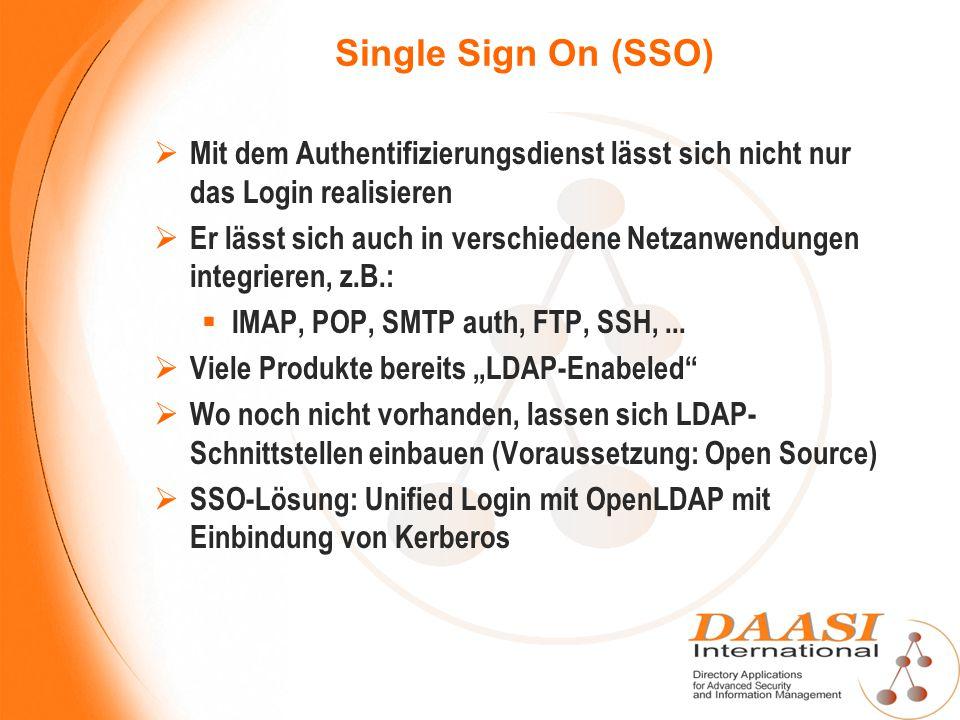 Single Sign On (SSO) Mit dem Authentifizierungsdienst lässt sich nicht nur das Login realisieren.