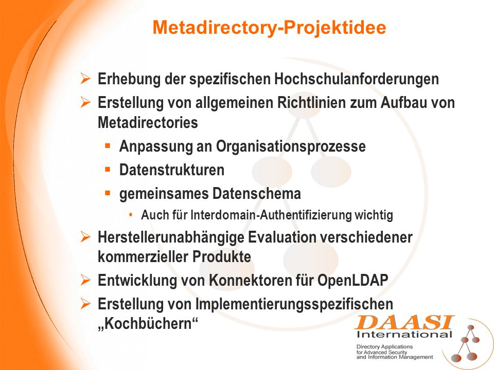 Metadirectory-Projektidee