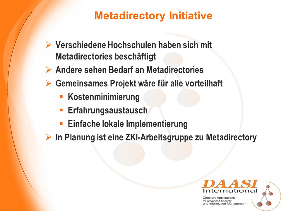 Metadirectory Initiative