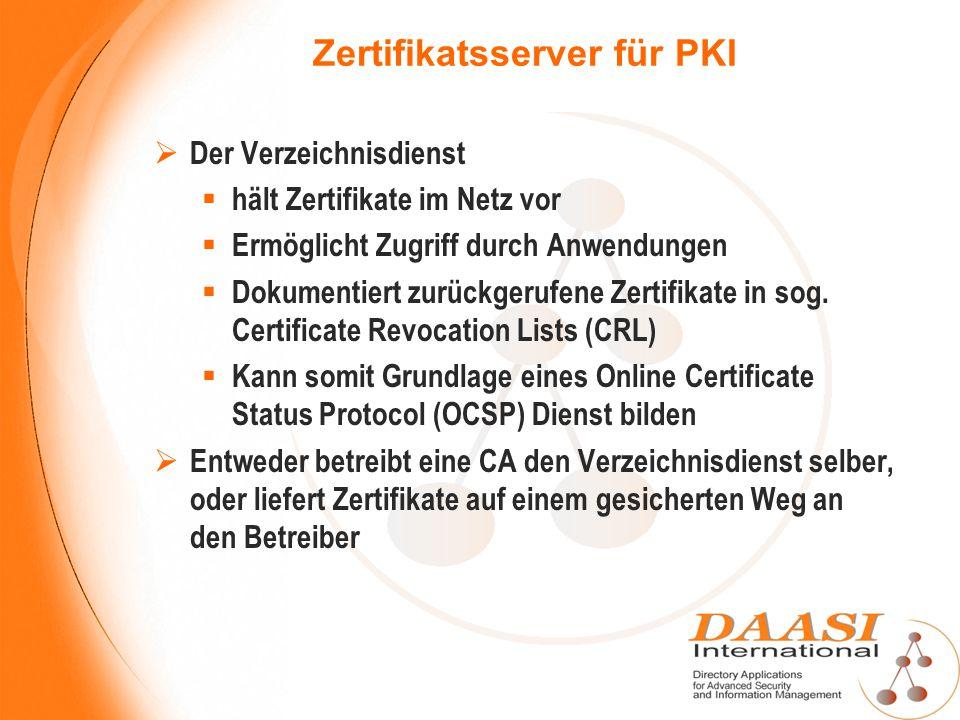 Zertifikatsserver für PKI