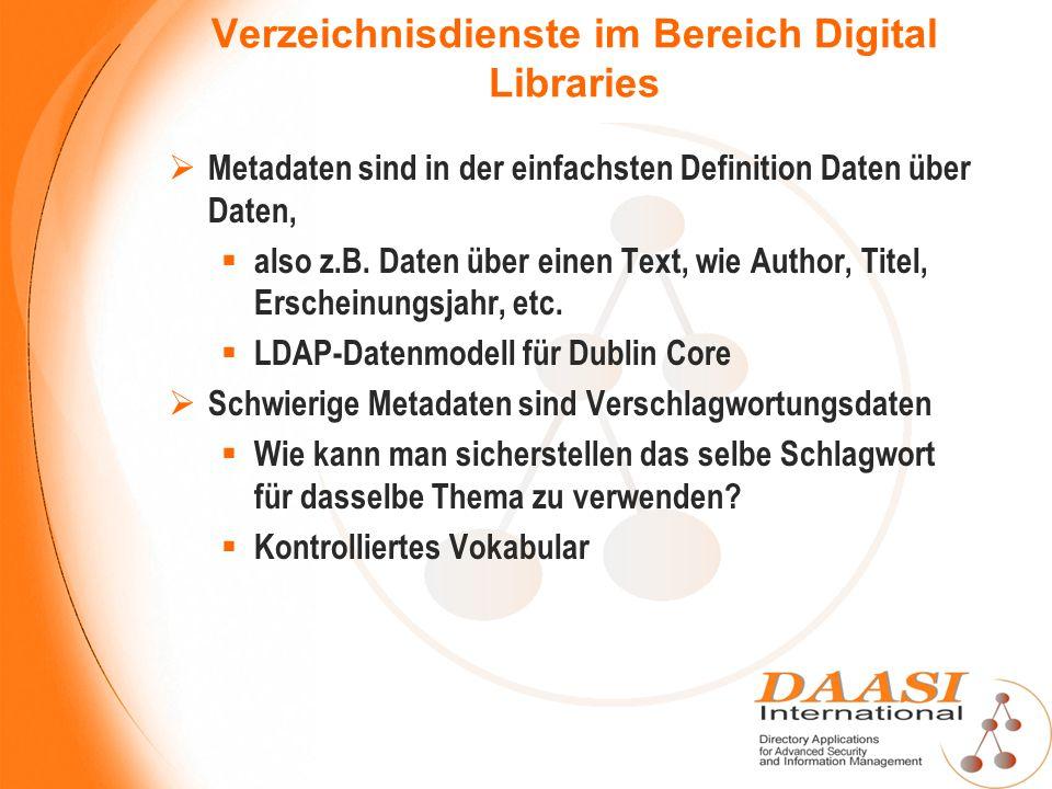 Verzeichnisdienste im Bereich Digital Libraries