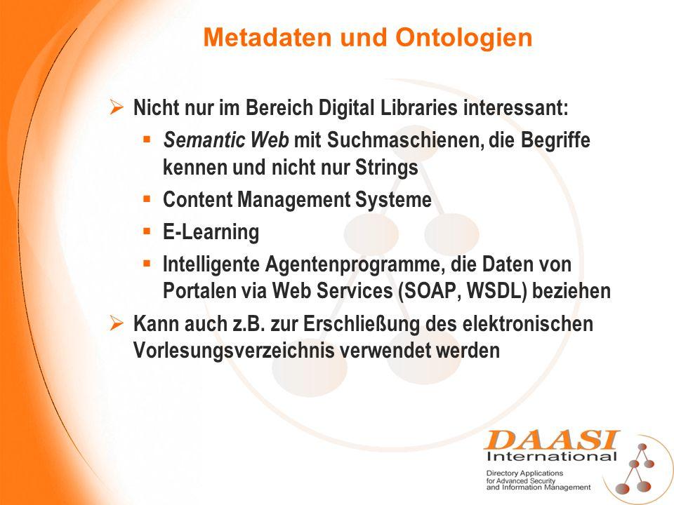 Metadaten und Ontologien