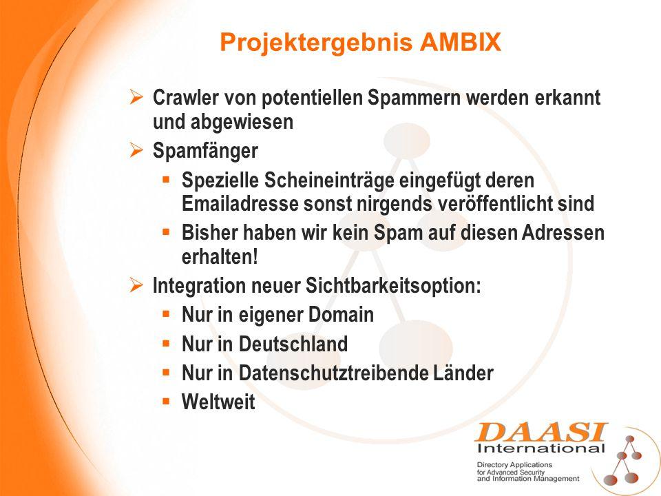 Projektergebnis AMBIX