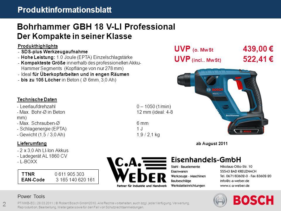 Bohrhammer GBH 18 V-LI Professional