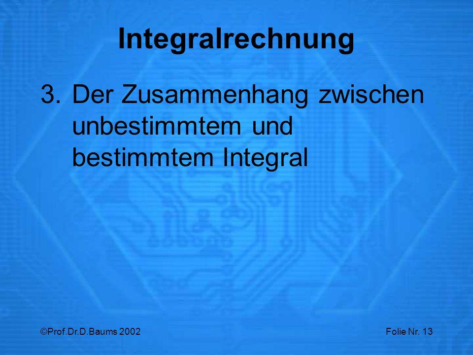 Integralrechnung Der Zusammenhang zwischen unbestimmtem und bestimmtem Integral.