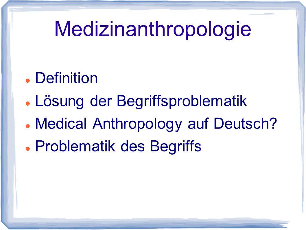 Medizinanthropologie
