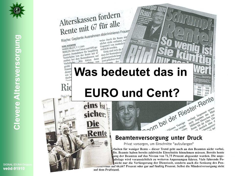 Was bedeutet das in EURO und Cent