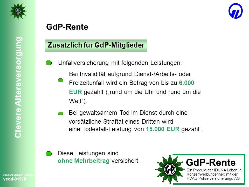 GdP-Rente GdP-Rente Zusätzlich für GdP-Mitglieder