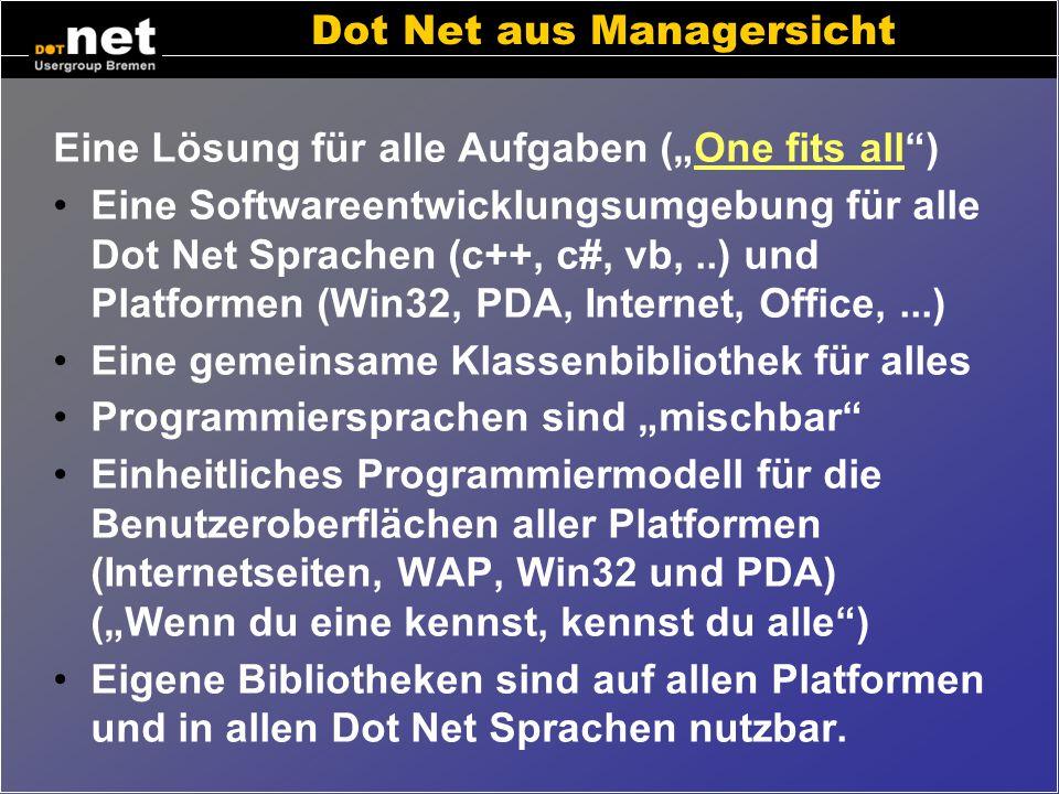 Dot Net aus Managersicht